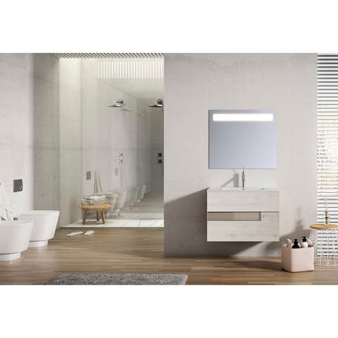 "Lucena Bath 2 Drawer 40"" Vision Vanity with Ceramic Sink"