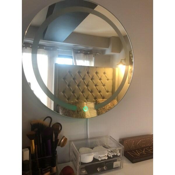 Shop Costway 20\'\' LED Mirror Illuminated Light Wall Mount Bathroom ...