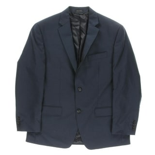 Sean John Mens Pindot Lined Two-Button Blazer