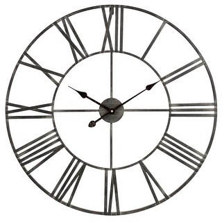 Aspire Home Accents 5155 Solange 30 Inch Diameter Oversized Analog Wall Mounted Clock - N/A - N/A