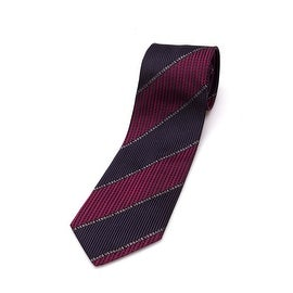 Versace Men Slim Silk Neck Tie B0703 Black Burgundy