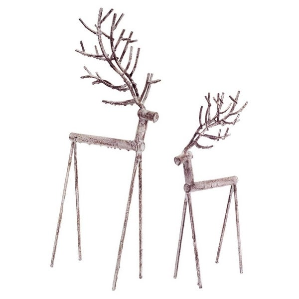 "Pack of 6 Weathered Deer Christmas Decorations 17""-23.5"""