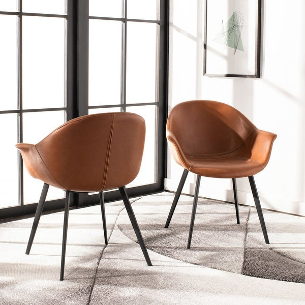 "Safavieh Dublin Mid-Century Modern Tub Accent Chair (Set of 2) - 26"" x 24"" x 31.9"" - 26"" x 24"" x 31.9"". Opens flyout."