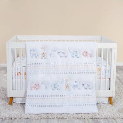 Bear and Buddies 4 Piece Crib Bedding Set