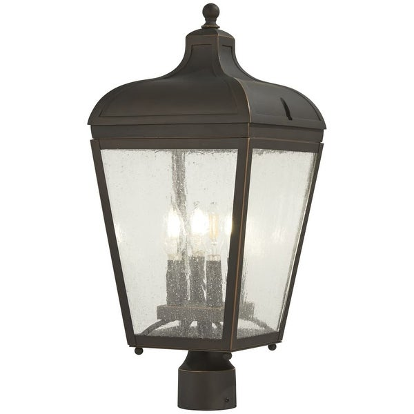 Shop The Great Outdoors 72486 143C Marquee 4 Light 7 3 Wide Outdoor Single Head Post
