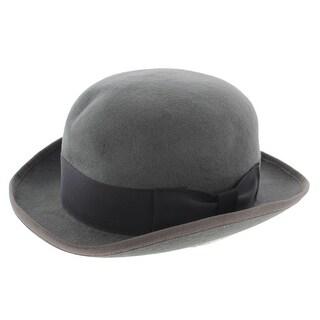 Hats in the Belfry Mens Tammany Wool Banded Derby Hat - XL