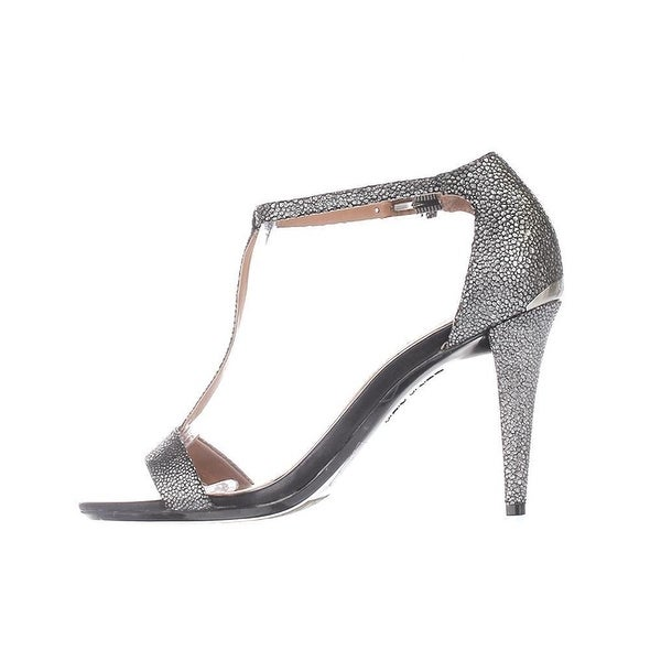 Calvin Klein Womens NASI Leather Open Toe Special Occasion T-Strap Sandals