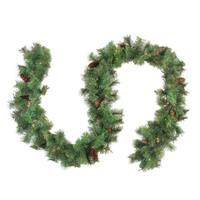 "9' x 12"" Pre-Lit Royal Oregon Pine Artificial Christmas Garland - Clear Lights - Green"