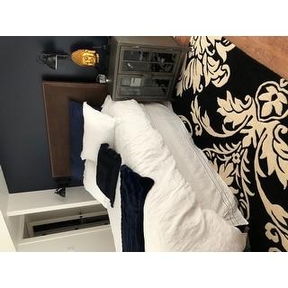 Linen Hemstitch 15-inch Drop Bed Skirt