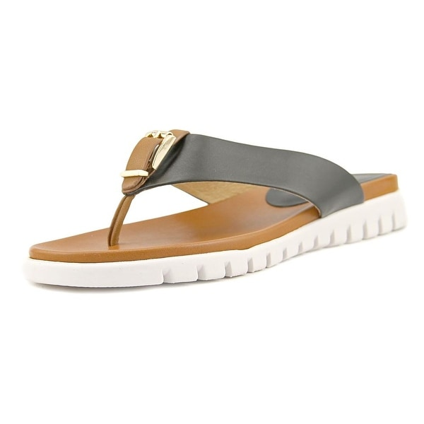 cdb910afaec3 Shop Vaneli Ravyn Women Open Toe Leather Multi Color Thong Sandal ...