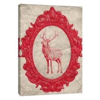 """PTM Images 9-108966  PTM Canvas Collection 10"""" x 8"""" - """"Framed Elk in Crimson"""" Giclee Elk Art Print on Canvas"""
