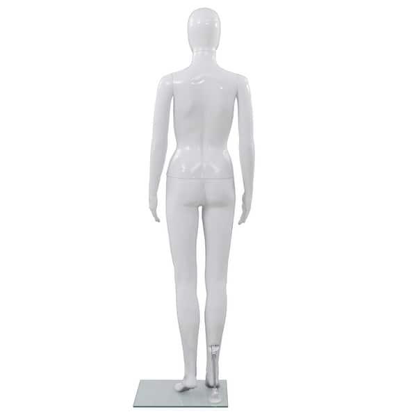 Ladies Full Body Glossy White Abstract Women/'s Full Body Mannequin #XD19W