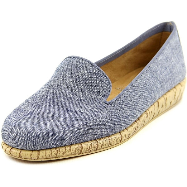 Aerosoles Sunscreen Women Round Toe Canvas Blue Loafer