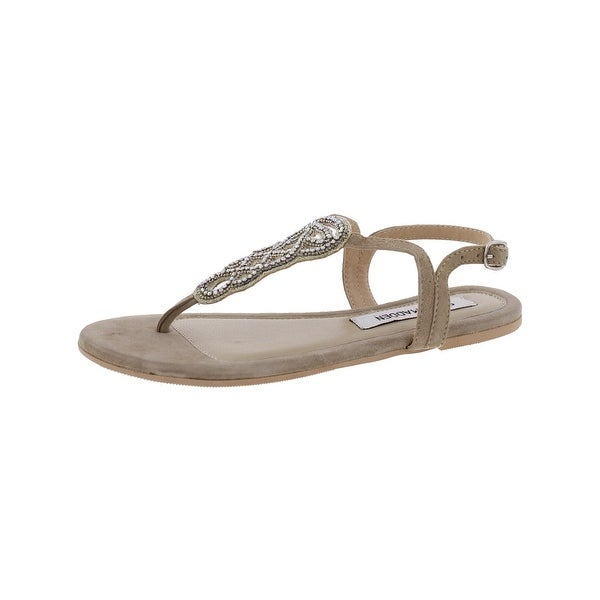 Steve Madden Womens Trish T-Strap Sandals Open Toe Slingback