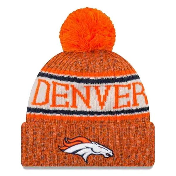 Shop New Era 2018 NFL Denver Broncos Sport Stocking Knit Hat Winter Beanie  11768192 - Free Shipping On Orders Over  45 - Overstock - 23042891 db11c2b2f62