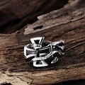Vienna Jewelry Christ's Cross Stainless Steel Ring - Thumbnail 1
