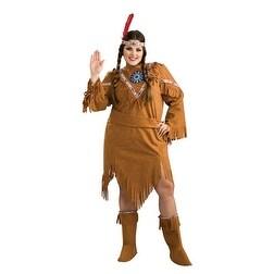 Womens Native American Girl Plus Size Costume 16-22 - big & tall