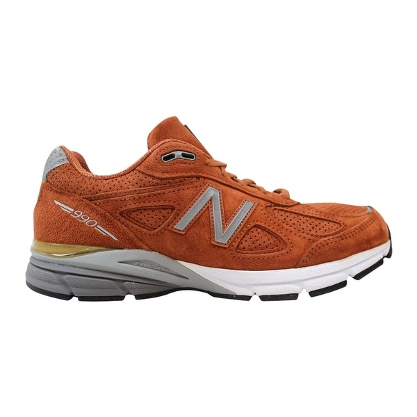 47643c32fa0de Shop New Balance Men's 990 Jupiter Suede Burnt Orange/Silver-White M990JP4  Size 8 - Free Shipping Today - Overstock - 27339119