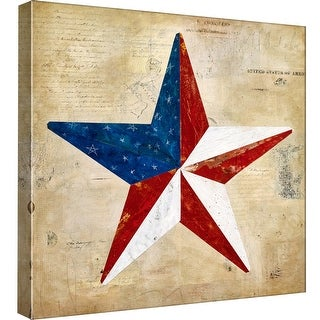 """PTM Images 9-97892  PTM Canvas Collection 12"""" x 12"""" - """"Americana 3"""" Giclee American Art Print on Canvas"""