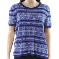 Lauren By Ralph Lauren Womens Geo-Print Knit Top