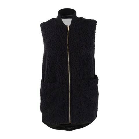 Calvin Klein Performance Women's Fleece High-Low Hem Vest (S, Black) - Black - S