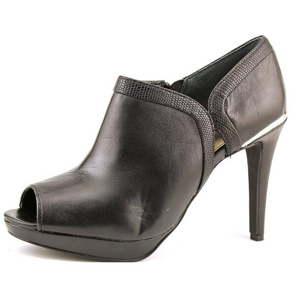 Alfani Ridlee   Peep-Toe Leather  Bootie