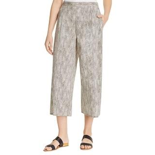 Eileen Fisher Womens Petites Wide Leg Pants Crop Organic - pm