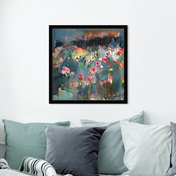 Oliver Gal 'Michaela Nessim - Subtle radiance' Abstract Wall Art Framed Print Paint - Gray, Pink. Opens flyout.