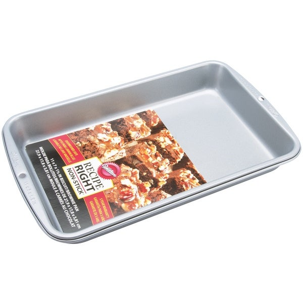 """Recipe Right Biscuit/Brownie Pan-11""""X7"""""""