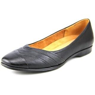 Naturalizer Jaye Women W Round Toe Leather Black Flats