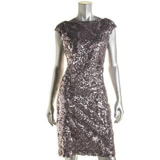 Lauren Ralph Lauren Womens Cocktail Dress Sequined Open Back|https://ak1.ostkcdn.com/images/products/is/images/direct/561599fb649bca8ce4a50b3910faf7b31f24c1d0/Lauren-Ralph-Lauren-Womens-Sequined-Cut-Out-Back-Cocktail-Dress.jpg?impolicy=medium