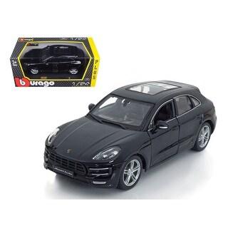 Porsche Macan Turbo Black 1/24 Diecast Model Car by BBurago