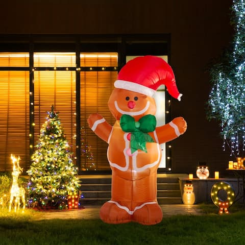 Glitzhome 8'H Lighted Inflatable Decor