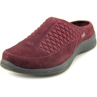 Ryka Shearling Vamp Slip-on Clog Women W Round Toe Suede Clogs