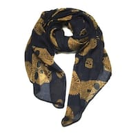 Women's Lightweight  Skull  Printed Soft Large Wrap Scarves