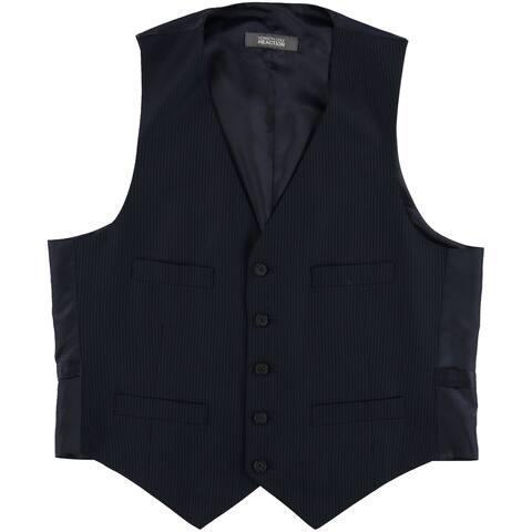 Kenneth Cole Mens Pinstripe Five Button Vest - 40 Short