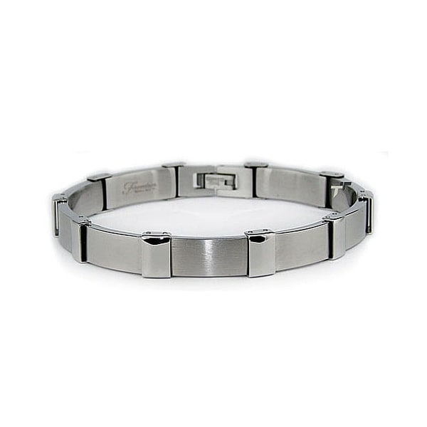 Stainless Steel Bracelet (9.5mm Wide) 8.5 Inches