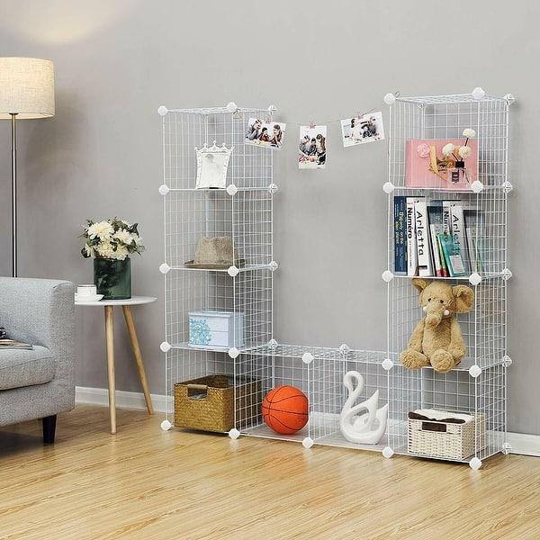 Shop Metal Wire Cube Storage 12 Cube Shelves Organizer