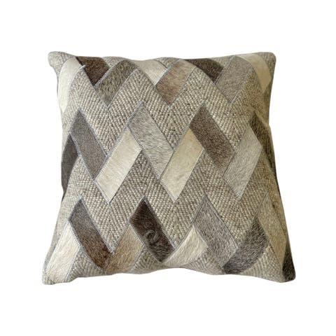 Owen Throw Pillow Grey/Ivory