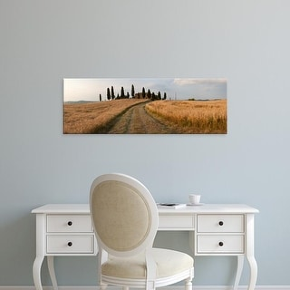 Easy Art Prints Panoramic Images's 'Dirt road passing through a field, Val d'Orcia, Tuscany, Italy' Premium Canvas Art