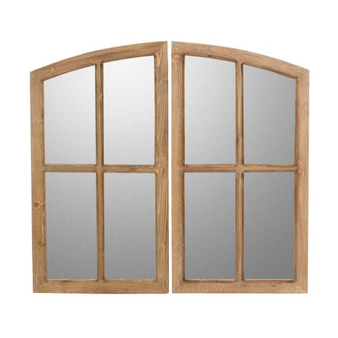 Jolene Arched Window Pane Mirrors (Set of 2)