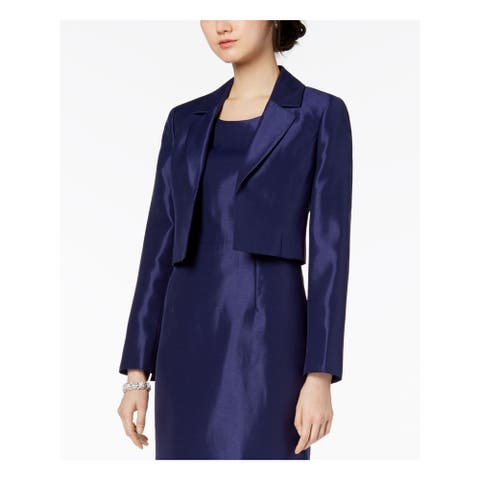 LE SUIT Womens Navy Darted Bolero Wear to Work Jacket Size 14