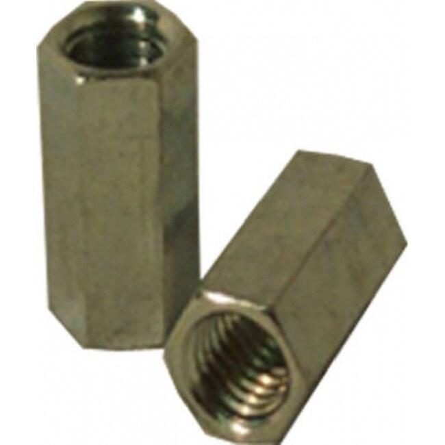 SteelWorks 11843 Steel Coupling Nut, 1/4-20, Zinc Plated