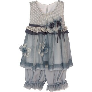 Isobella & Chloe Baby Girls Slate Gray Harmony Two Piece Pant Set 3M-24M (3 options available)
