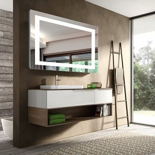 Link to LED Illuminated Wall Bathroom Anti-fog Makeup Mirror with Dimmer Similar Items in Mirrors