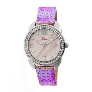 Boum Forte Women's Quartz Watch, Genuine Leather Band, Luminous Hands