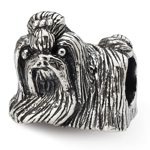 Sterling Silver Reflections Shih Tzu Bead (4mm Diameter Hole)