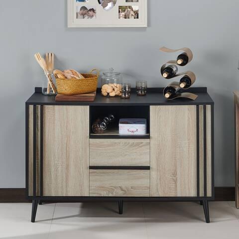 Carson Carrington Ingsta Mid-century Oak 47-inch Buffet Server