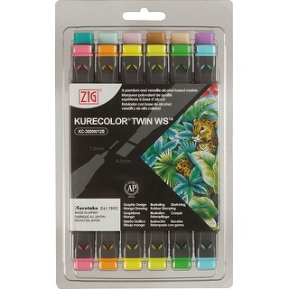 Pale Colors - Kurecolor ZIG Twin WS Marker Set 12/Pkg