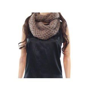 Justin & Taylor Brown One Size Eyelash Chunky Knit Cowl/Infinity